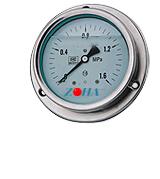 YTN-150ZT轴向耐震带前边压力表