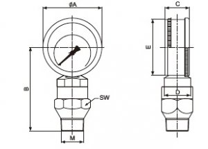 YK-100抗震泥浆压力表