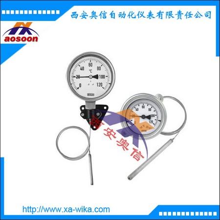 70+831膨胀式温度计 带微动开关和毛细管 不锈钢 威卡授权