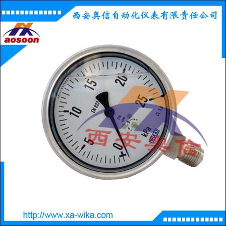 威卡WIKA不锈钢膜盒耐震压力表633.50.100  充液型