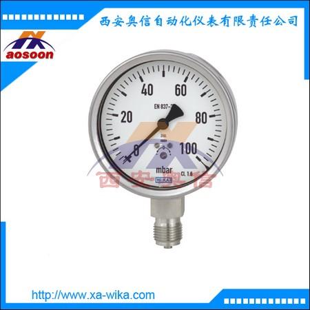 威卡WIKA不锈钢微压压力表632.50.063 不充液 -16KPa-0