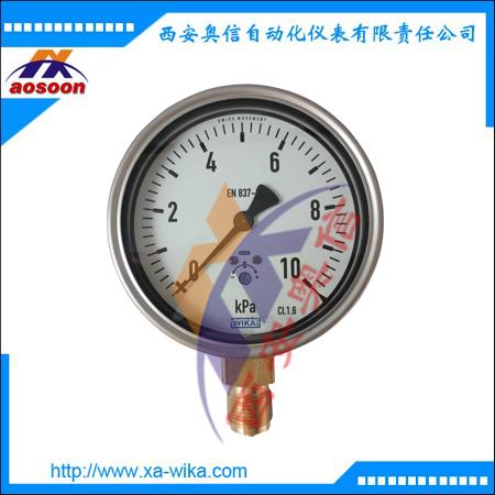 612.20.100膜盒压力表 WIKA威卡微压表 WIKA压力表 -2.5KPa~0