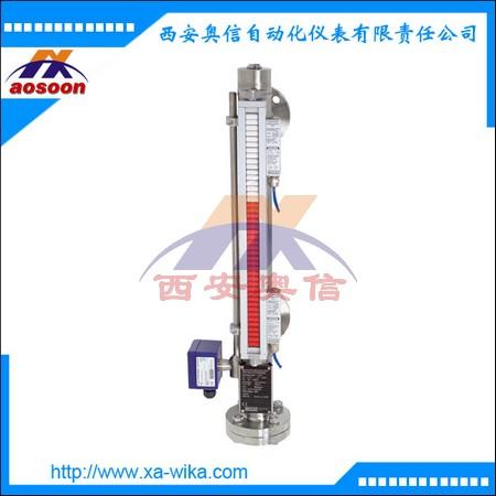 PTFE衬里磁翻板防腐液位计 BNA磁翻板液位计带FFG液位变送器 4-20