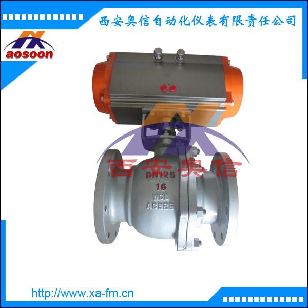 Q641F气动不锈钢法兰球阀 Q641F-16气动不锈钢球阀