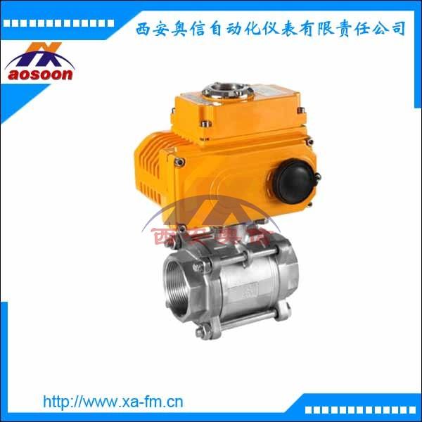 AXULI-10C 三片式电动球阀正反转控制调节阀