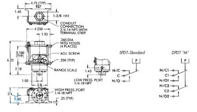 604D1,604D系列美国CCS差压开关