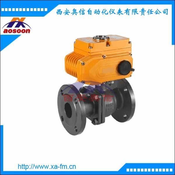 电动球阀 AXULI-20A-0-80P电动法兰球阀